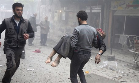 Victim in Syrian regime attack on hospital in Douma (file)