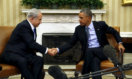 Netanyahu and Obama in the White House