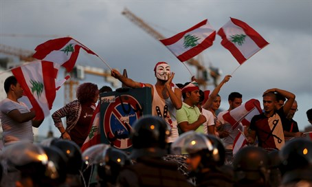 Lebanese activists protest government failures in Beirut (October 2015)