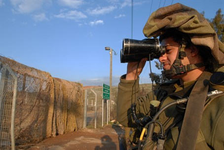 IDF patrol along border with Lebanon
