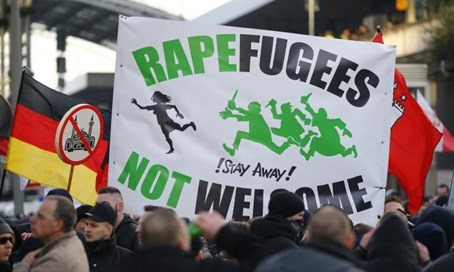Anti-immigrant protest in Cologne (illustration)