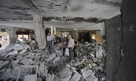 destroyed house of terrorist in Jerusalem
