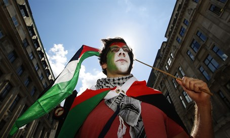 Pro-Palestinian activist in London (file)