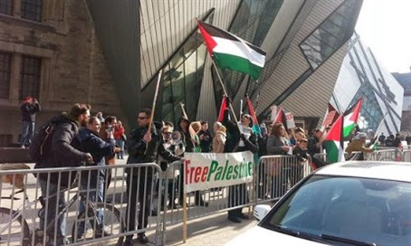 Anti-Israel protest in Toronto