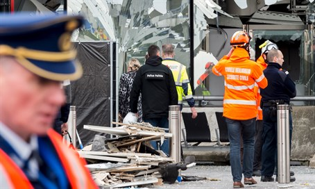 Scene of Brussels airport bombing
