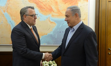 PM Netanyahu with Motorola Solutions CEO Greg Brown