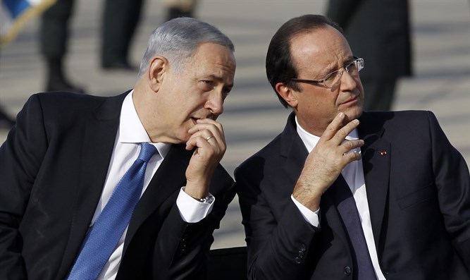 Prime Minister Binyamin Netanyahu and French President Francois Hollande