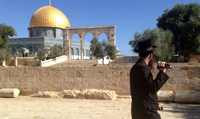 Jewish visitor on the Temple Mount (Illustration)