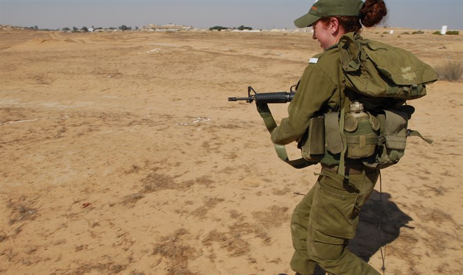 Female infantry soldier