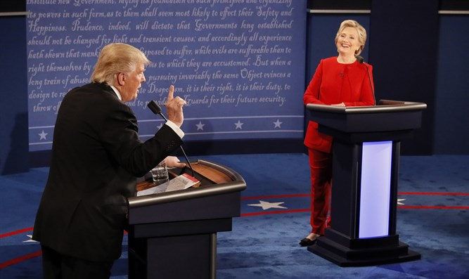Trump and Clinton debate