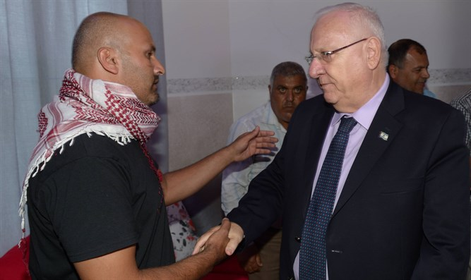 President Rivlin pays condolence call to Bedouin family
