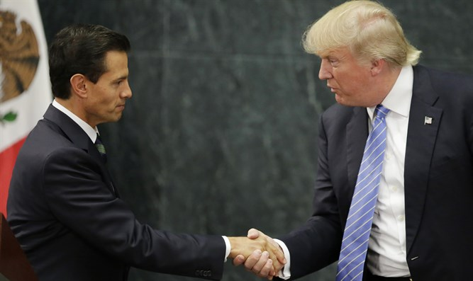 Enrique Pena Nieto and Donald Trump
