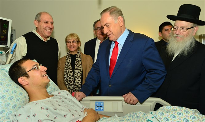 Netanyahu in Hadassah hospital