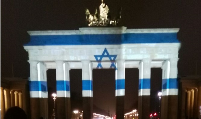Brandenburg Gate lit up in memory of terror attack victims