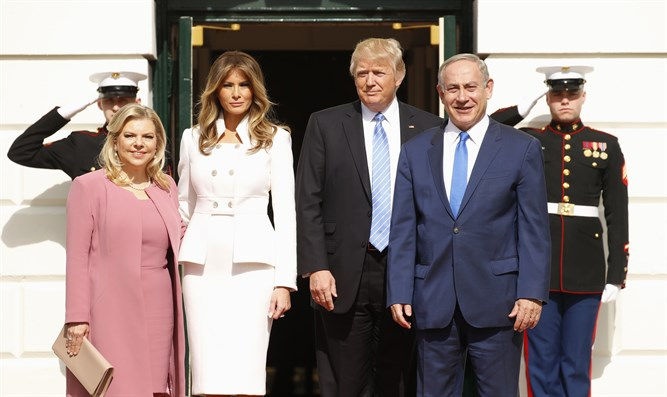 Netanyahu and Trump at White House