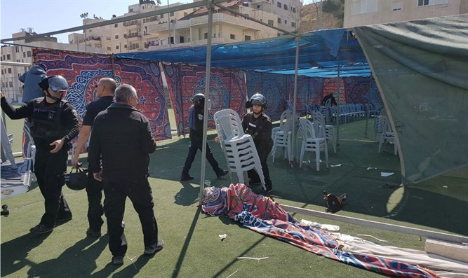Illegal tent use for terrorist celebration