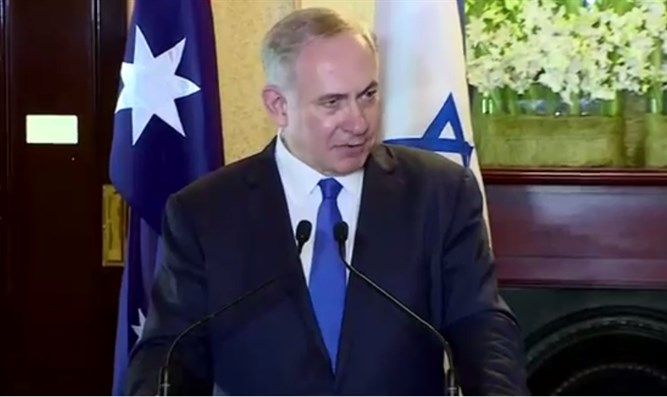 Netanyahu speaks after meeting with Australian PM