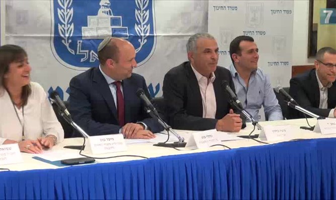 Kahlon and Bennett at press conference