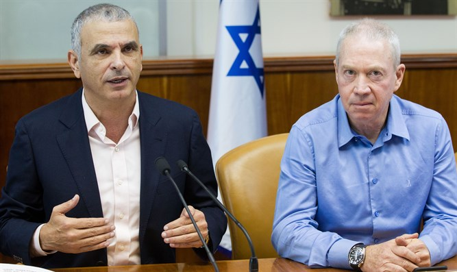 Kahlon (left), Yoav Galant (right)