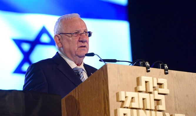 Rivlin speaks at Kibbutz Lohamei Hagetaot