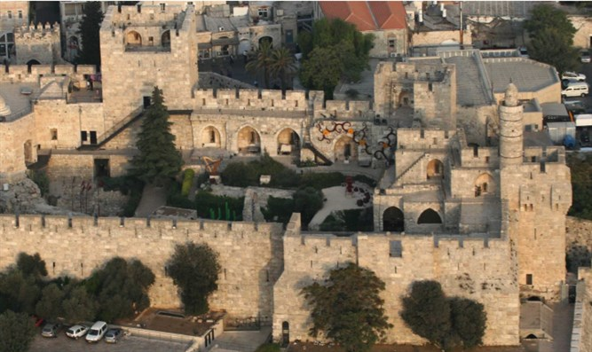 birds eye view of The Tower of David, Jerusalem