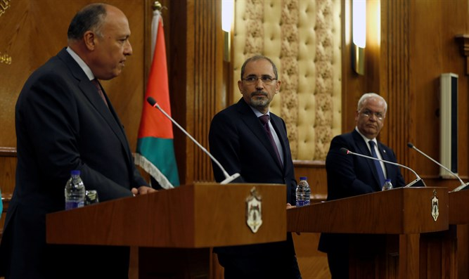 Shoukry, Safadi and Erekat