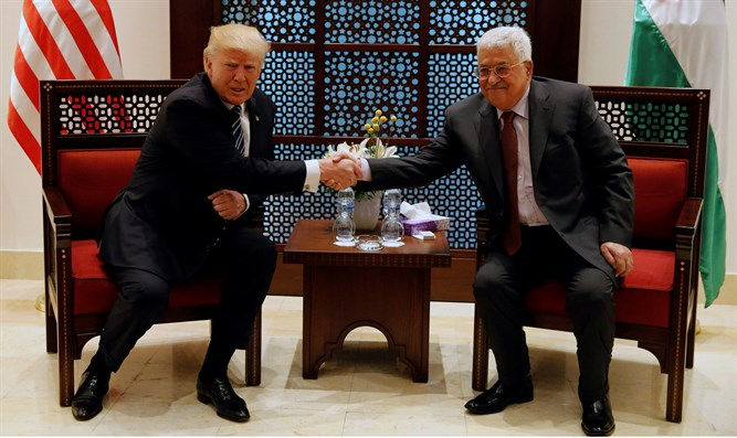 President Donald Trump meets with PA chief Mahmoud Abbas in Bethlehem