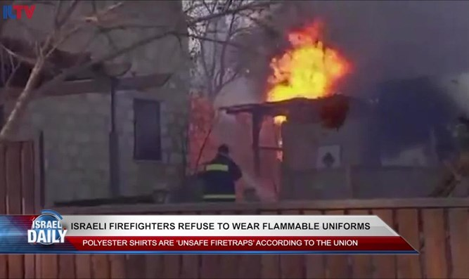 Firefighters refuse to wear flammable uniforms