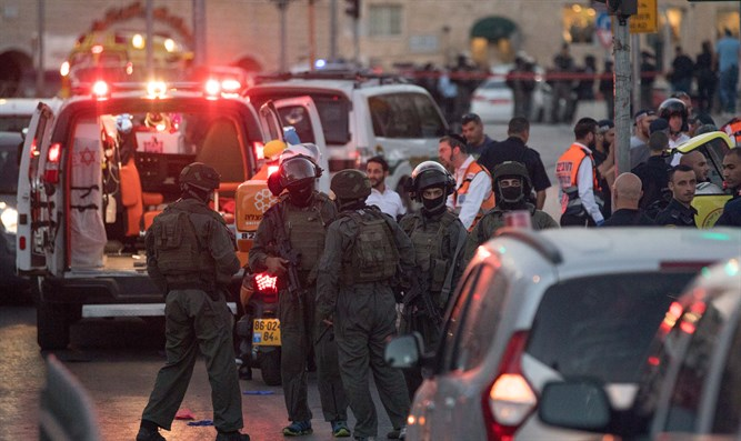 Scene of terror attack in Jerusalem