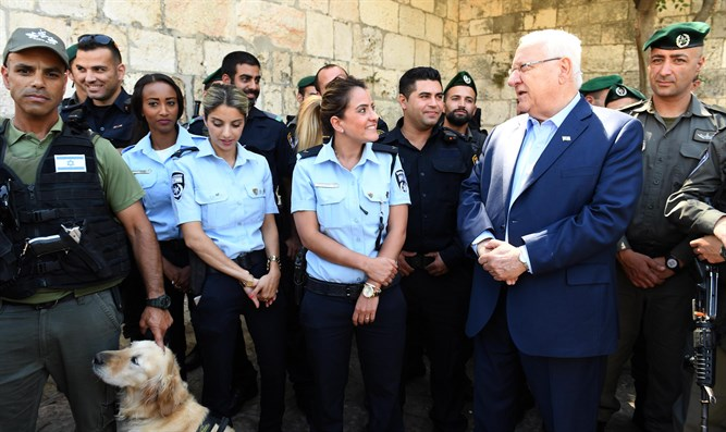 President Rivlin at Damascus Gate