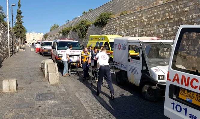 Scene of Jerusalem terror attack