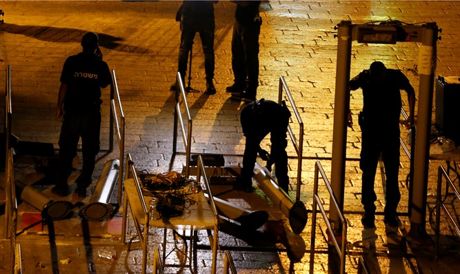 Dismantling of Temple Mount metal detectors