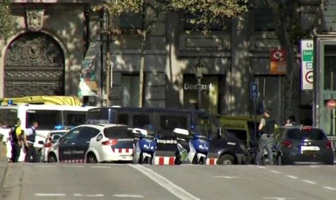 Scene of attack in Barcelona